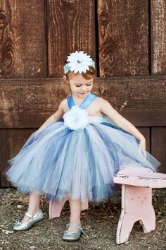 This would soooo be my flower girl dress!! Ice Blue Tutu Dress