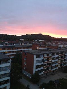 Sunset over Vårby