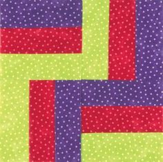 TLC Home 'Rail Fence quilt block in prints that are close to solids. Quilting Projects, Quilting Designs, Sewing Projects, Quilting Ideas, Rail Fence Quilt, Quilting Rulers, Easy Quilt Patterns, Sampler Quilts, Easy Quilts