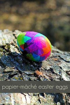 Papier-mâché Easter Eggs - Fireflies and Mud Pies