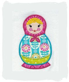 Matryoshka-Russian Doll Machine Applique Embroidery Design
