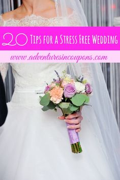 Your big day should be a day of rest, relaxation and happiness. These 20 tips for a stress free wedding will help you walk down the aisle stress free and calm.
