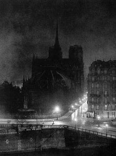 """Brassai, Notre Dame from the Ile Saint-Louis, """"Paris by Night"""" 1933 Edward Steichen, Alfred Stieglitz, Man Ray, Paris By Night, Brassai, Ile Saint Louis, St Louis, Herbert List, Moving To Paris"""