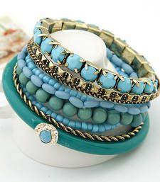 Blue Ocean Beads Multilayer Bangles Set(CFB0044) shop online Rs 549