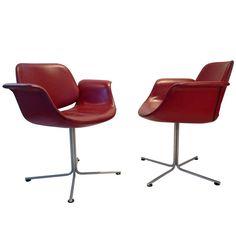 """""""Flamingo"""" Chair by Erik Jorgensen (pair)"""