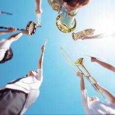 本日、映画『ハルチカ』公開です。 #映画ハルチカ #吹キュン #吹奏楽 #楽器 Brass Band, Illustrations And Posters, Illustrations Posters