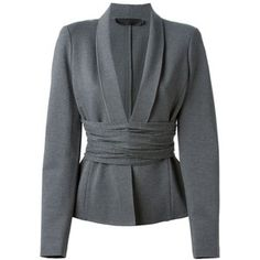 beautiful . .. Donna Karan Cross Drape Jersey Blazer