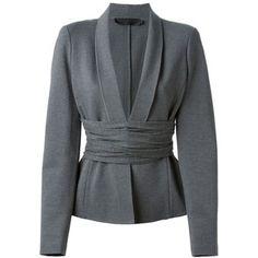 Donna Karan cross drape jersey blazer