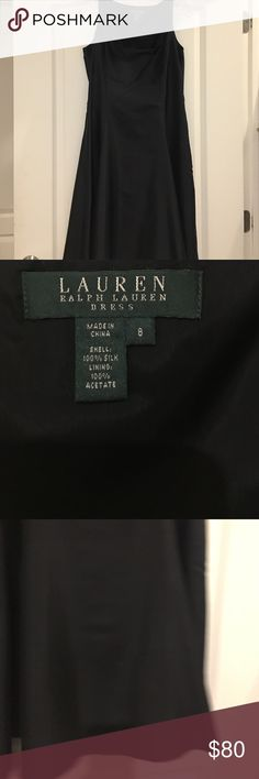 Ralph Lauren 100% silk dress Perfect little black dress fit and flair style very flattering Ralph Lauren Dresses