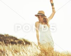 Stock photo Fashion Lifestyle. Fashion Portrait of Beautiful Young Woman Outdoors. Soft warm vintage color tone. Artsy Bohemian Style..  6.1 MB. 4815 x 3840. From $10. Royalty free. Download now >>>