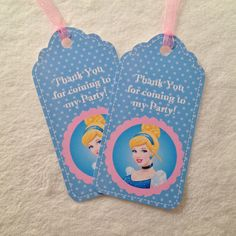 10  NEW Cinderella Thank You Party Favor by MichelleAndCompany