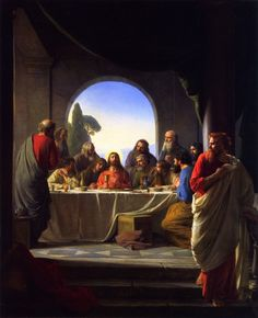 The Last Supper Carl Heinrich Bloch With Judas Iscariot Leaving To Betray Jesus Chief Priests