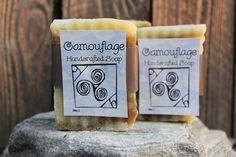 Handcrafted Camouflage Soap | Omra9 - Bath & Beauty on ArtFire