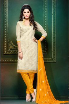Yellow with white colour salwar with an affordable price at Madharshaonline.com