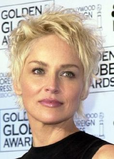 Sharon Stone Very Short Hairstyle