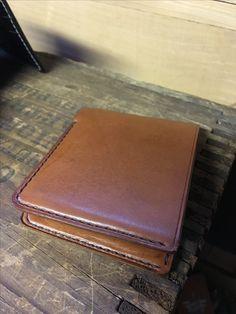 Saddle leather pigskin lined wallet. www.allisonleatherworks.com