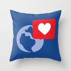 Love notification Throw Pillow