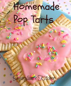 Homemade Pop Tarts!  So easy to make and taste so much better than the store bought kind!    sugarplumskitchen.com