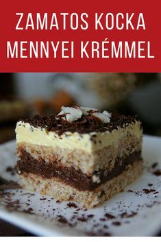 Cake Bars, Apple Pie, Tiramisu, Biscuits, Healthy Living, Food And Drink, Cooking Recipes, Sweets, Cookies