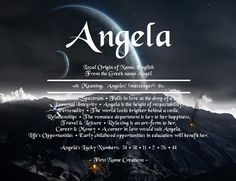 First Name Creations: Search results for Angela