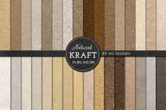 Kraft Paper Texture Pack - Neutral by MG Designs on @creativemarket