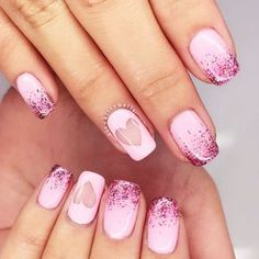 Hey, ladies, who wants to see nail art designs for Valentine's Day that look really cute? Little hearts in various colors and birds that symbolize a happy couple.There are so many attributes of this holiday that the choice for a manicure is really wide.