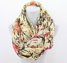 Chinese Calligraphy Lanscape Infinity Scarf