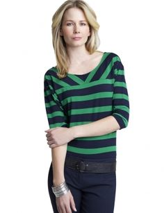 Tops for Women: Striped Dolman Tee: The Limited - StyleSays