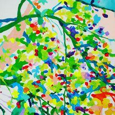 【hoshikisara】さんのInstagramをピンしています。 《緑の桜 #drawings  #hoshikisara  #drawings #flowers #birds #watercolors #紙 #art #instagood #絵のある暮らし #花 #painting #acrylics #colors #vividtone #平面 #絵画 #絵 #イラスト #装飾画 #鳥 #緑の桜 #acrylics #水彩#桜  kuru-mart.com》