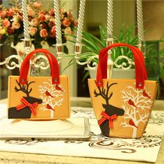 """4 pcs/set  Lovely Christmas Gift Bags     Tag a friend who would love this!     FREE Shipping Worldwide.     SAVE Big! Enjoy additional 10% OFF on every purchase for all items! Use the promo code """"XMAS17"""" upon checkout.     Get it here ---> http://hisandhertrove.com/4-pcsset-lovely-christmas-gift-bags/"""