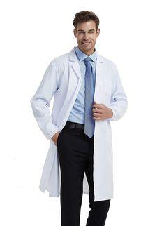 45832bae1fc5 BSTT Men Lab Coat White Medical Uniforms Scrubs
