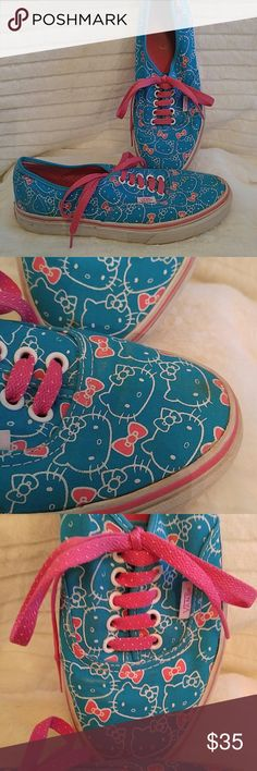 Limited Edition Vans & Hello Kitty These are a must for any Vans or Hello Kitty fan. And who doesn't love Hello Kitty???? Excellent condition all around including soles and bottom. Small dirt spot on front as shown in photo but can be washed and you can't really see it anyway. Vans Shoes Sneakers