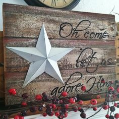 Barnwood Oh Christmas Let Us Adore Him, christmas signs, wood signs, holiday…