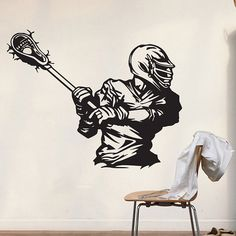 Lacrosse Decal Decor Lacrosse Wall Decal Lacrosse Stickers Lacrosse Gifts Stick Lacrosse Print Poster Party Lacrosse Art Dad Charm Monogram