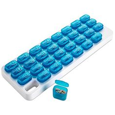 Monthly Pill Organizer - 31 Day Pill Organizer with Large Removable Medication Pods, Portable Pill Case Box and Holder for Daily Medicine and Vitamins, Great for Travel by MEDca Weekly Pill Organizer, Pop Out, Pill Boxes, Fish Oil, Travel Planner, Storage Organization, Storage Boxes, Organizing, Pills