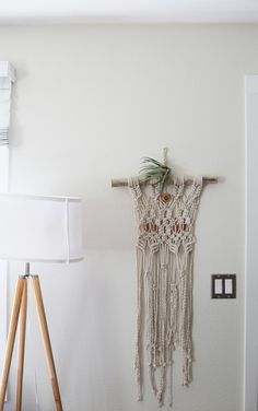 Macrame piece done by fiber artist Annabelle Klachefsky of East Knot, out of Portland OR. Head over to @eastknot.shop on Instagram for more!