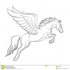 pegasus outline   Pegasus Stock Photo - Image: 28121860