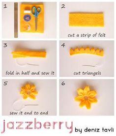 DIY Tutorial: Felt Crafts / DIY Felt Flower Tutorial