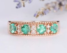 HANDMADE RINGS & BRIDAL SETS by MoissaniteRings on Etsy Bridal Ring Sets, Handmade Rings, Turquoise Bracelet, Emerald, Gold Rings, Trending Outfits, Etsy Seller, Unique Jewelry, Engagement Rings