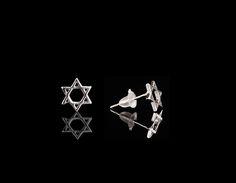 Silver Star of David Earrings - $30 http://www.muwae.com/shop/silver-star-of-david-earrings