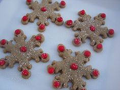 Red Couch Recipes: Snowflake Spice Cookies