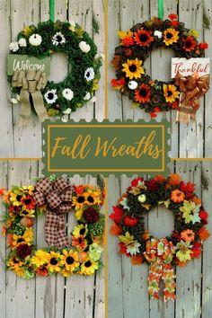 Ruffled burlap, sunflowers Thanksgiving Wreaths, Fall Wreaths, Christmas Wreaths, Thanksgiving Decorations, Door Wreaths, Halloween Decorations, Christmas Decorations, Holiday Decor, Fall Decor