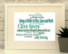 Loves Personalised Print Word Cloud Gift for by PepperDoodles Handmade Wedding, Handmade Shop, Etsy Handmade, Handmade Gifts, Do You Remember, Wedding Anniversary Gifts, Gifts For Husband, Boyfriend Gifts, Valentine Gifts
