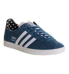 Adidas Gazelle Og W Tribe Blue Black Polka - Hers trainers
