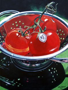 Tomatoes on a Vine by Alvin Richard