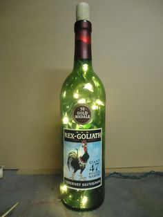47 Pound Rooster Wine Bottle Light..