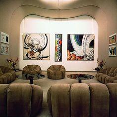 Pierre Paulin - Appartement de Georges Pompidou, 1971-72.à l' Elysée