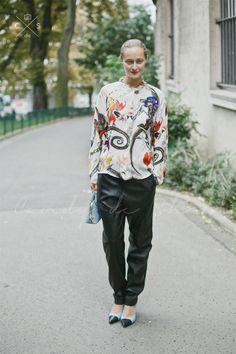 Paris Fashion Week 2015 S/S Street style. Day 2 #dariashapovalova