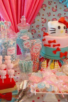 Hello Kitty Party #hellokitty #party.   Both my granddaughters LOVE Hello Kitty.
