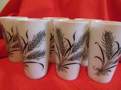 Vintage Milkglass Tumblers Milk Glass Drinking by WithoutBustles, $29.00